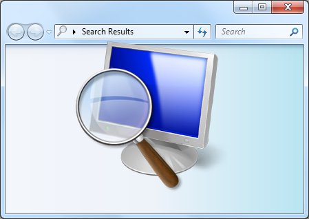 Windows Search Icon overlaid on search window