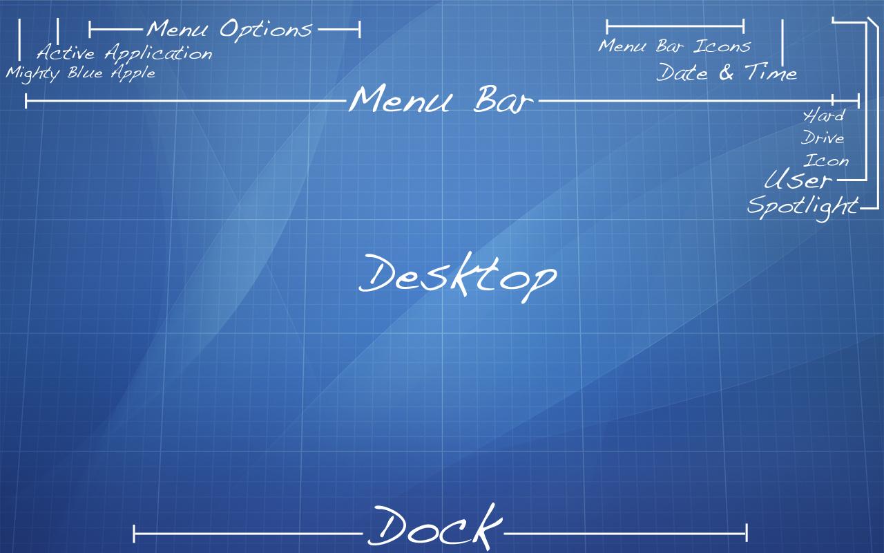 Mac OS Blueprint Wallpaper (unknown origin)
