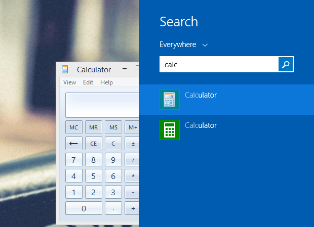 Search result showing old and modern calculator.