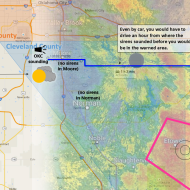 Click to enlarge this graphic showing a radar scan from the moment the warning was issued.