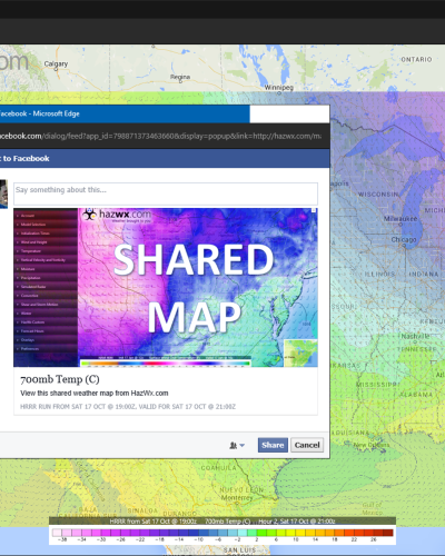 Share a map with the world with our implementation of sharing links and social posts, complete with all the post metadata you expect.